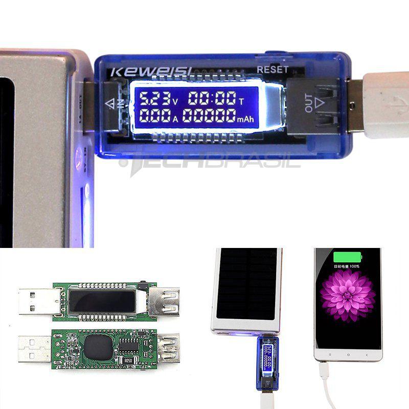 Testador Medidor De Usb Digital Voltagem Amperagem 4 A 20v