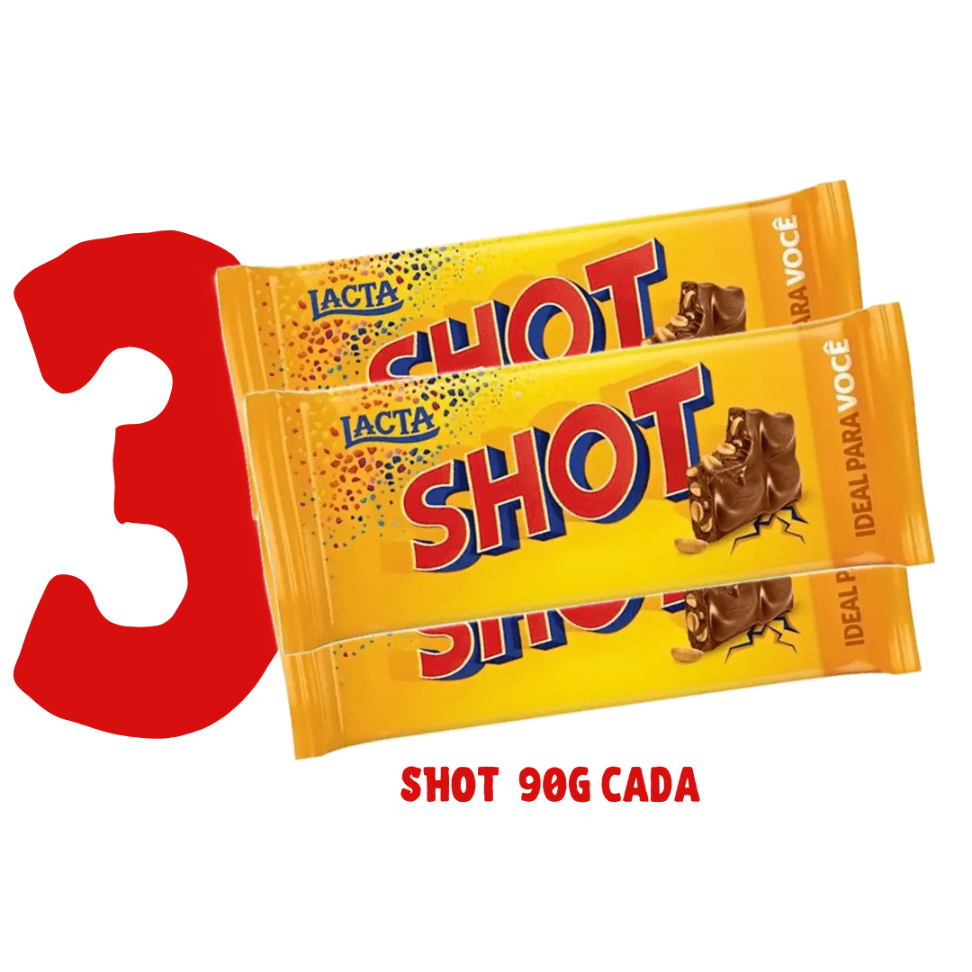 3 barras de chocolate SHOT  90g