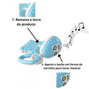 CHAVEIRO MUSICAL BRINQUEDO PARA BEBÊ COM SONS E TEXTURAS