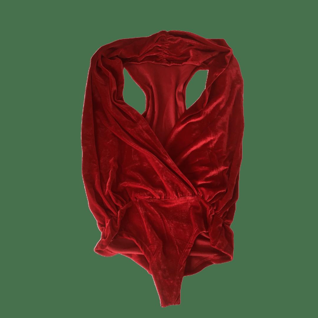 BODY DE VELUDO FEMININO