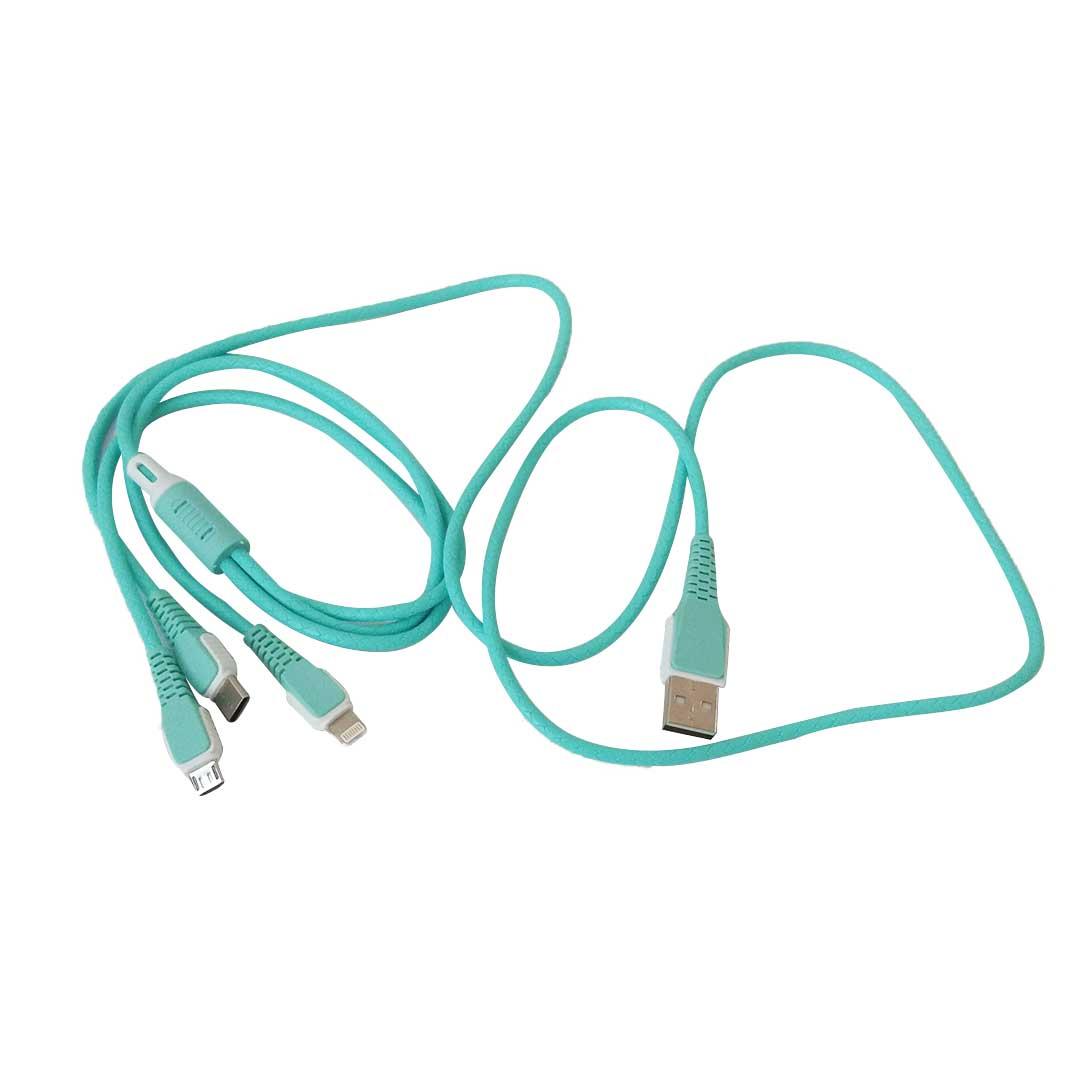 CABO DE CELULAR USB 3 EM 1 1,2M