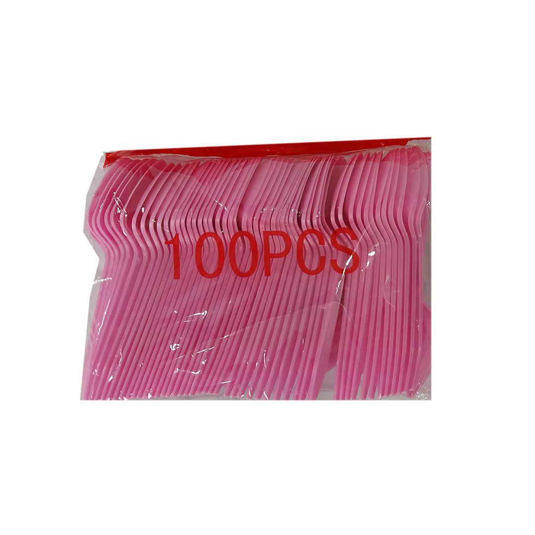 COLHER PLASTICO 100PCS