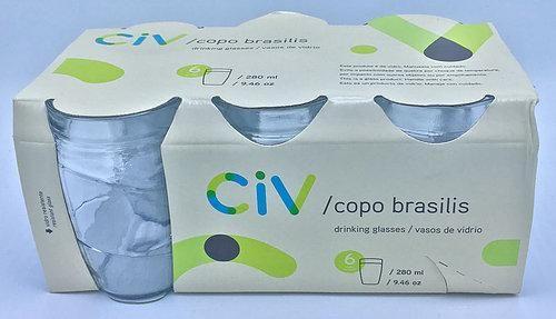 COPO BRASILIS CRISTAL 280 ml