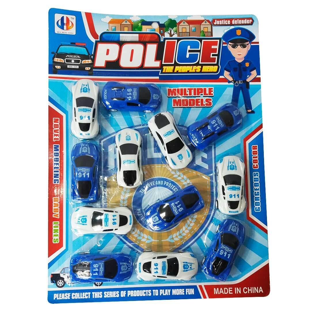KIT CARROS POLÍCIA 12UN