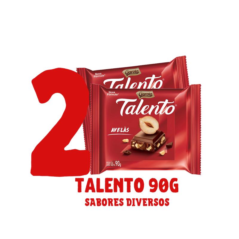 Kit 2 barras de chocolate Talento