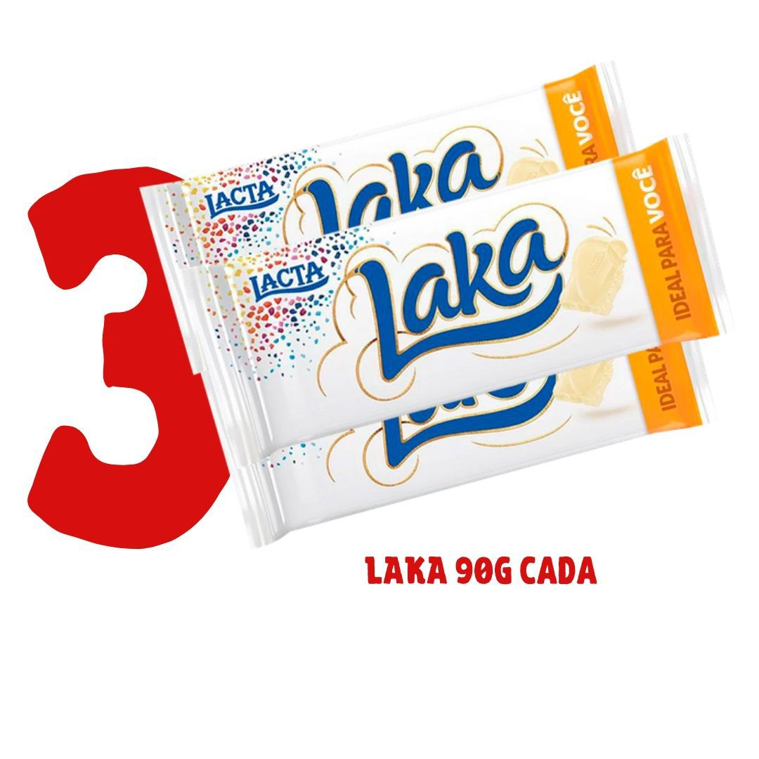 Kit - 3 barras de chocolate LACTA 90g