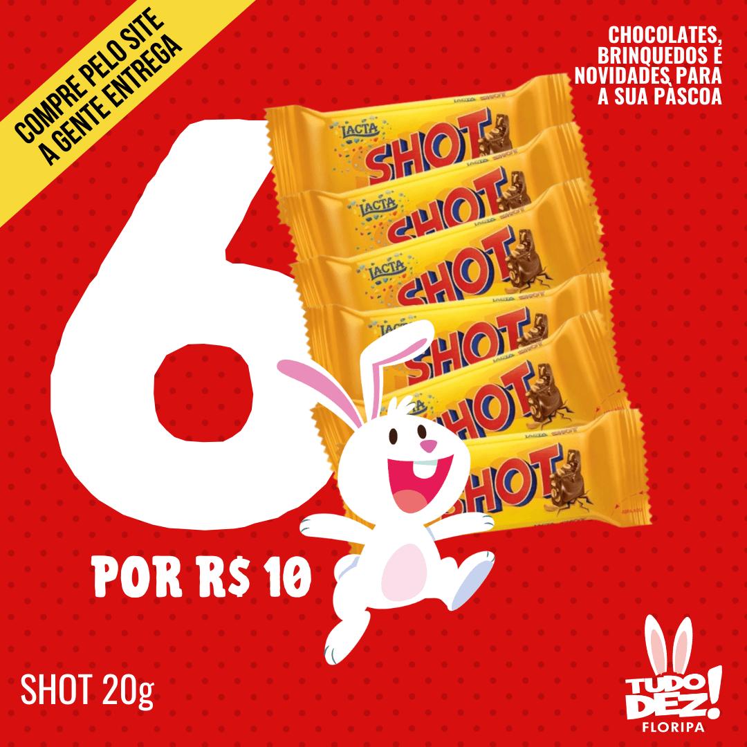 Kit com 6 chocolates Shot 40 g
