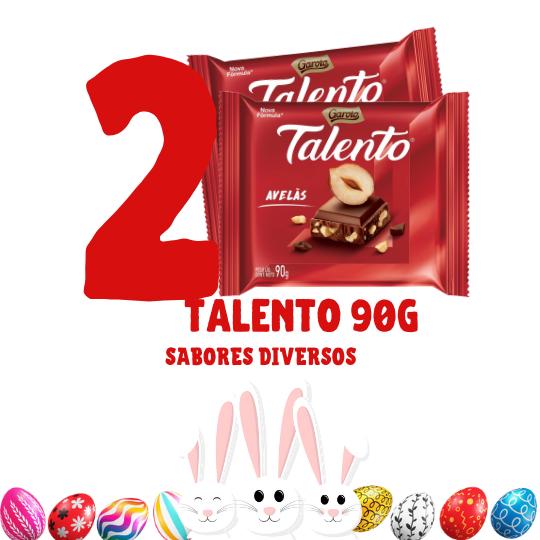 Kit Páscoa - 2 barras de chocolate Talento