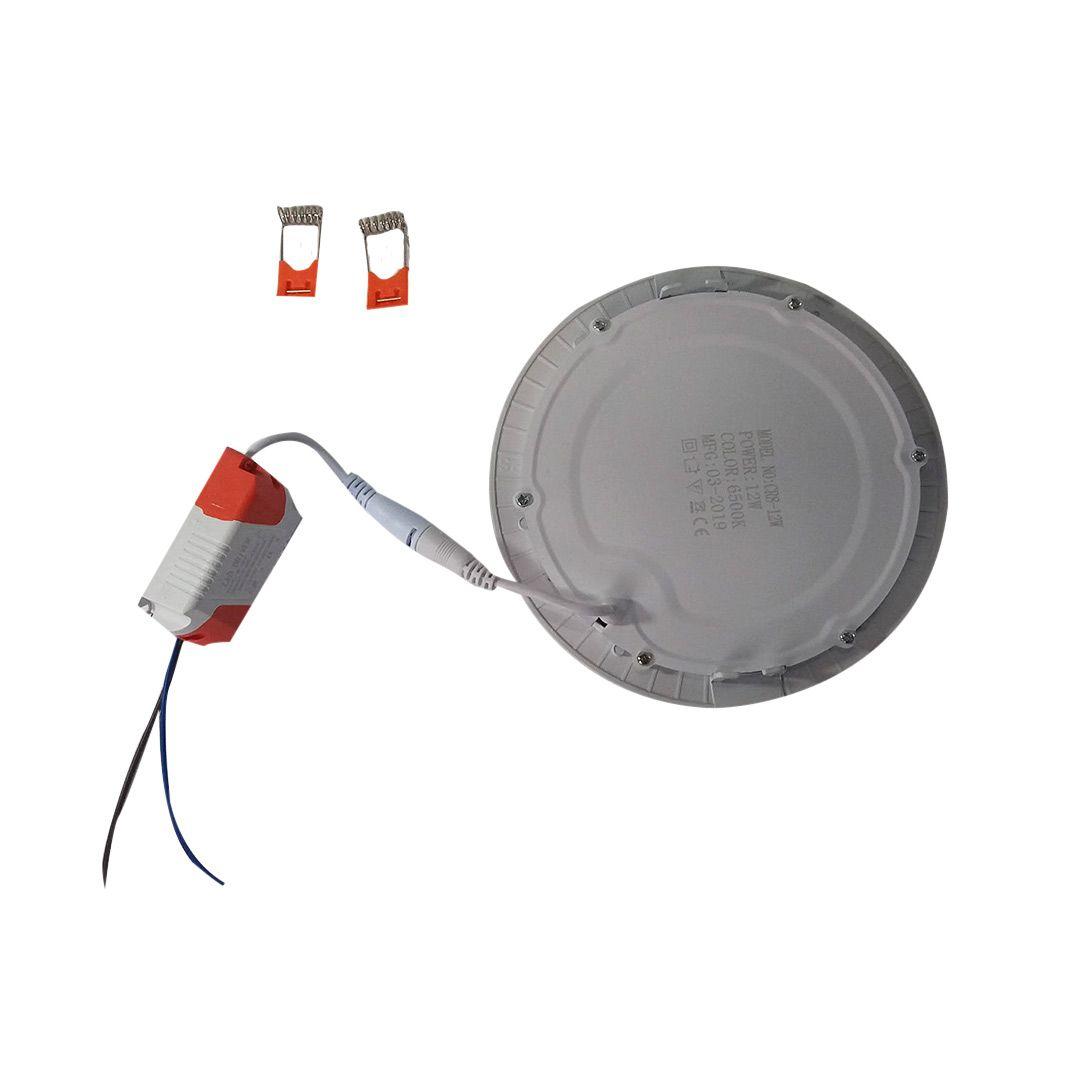 LAMPADA PLAFON SOBREPOR LED 17CM 12W