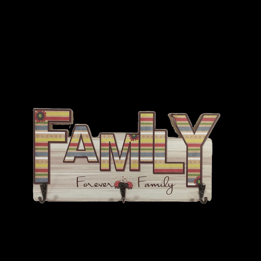 PORTA CHAVES DE MDF FAMILY 30X15CM