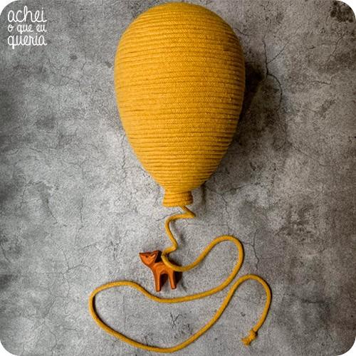 Balão Macramê COM Bicho - Tamanho M