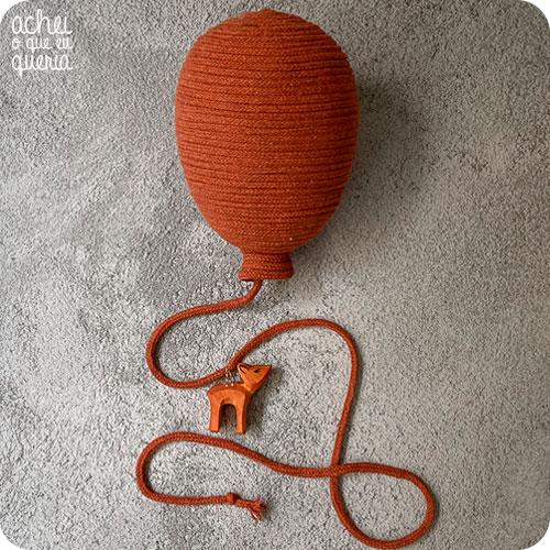 Balão Macramê COM Bicho - Tamanho P