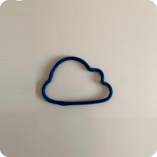 Enfeite de Mini Nuvem em Tricotin