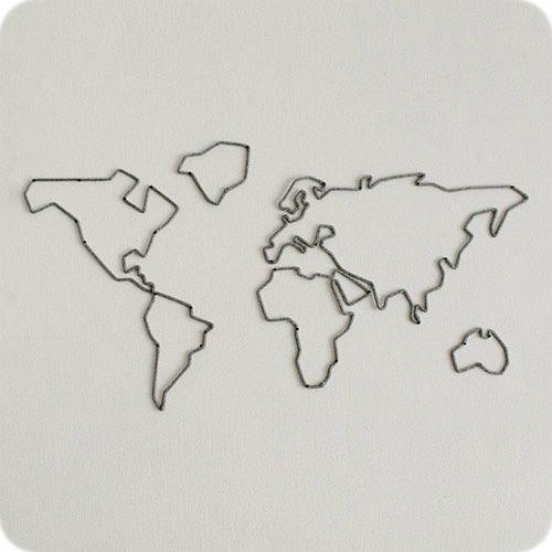 Enfeite de Mapa Mundi em Tricotin
