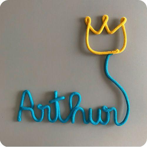 Nome com Balão de Coroa - Porta Maternidade