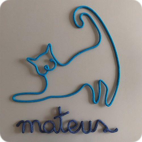 Nome com Gato - Porta Maternidade
