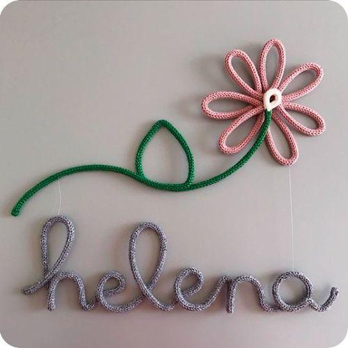 Nome Pendurado na Flor - Porta Maternidade