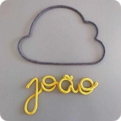 Nome Pendurado na Nuvem - Porta Maternidade