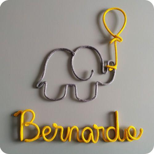 Nome Pendurado no Elefante e Balão - Porta Maternidade