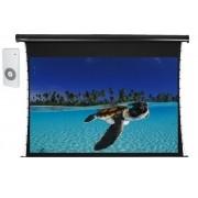 Tela de Projeção Elétrica Tensionada Tahiti 4:3 Vídeo 150 Polegadas 3,05 m x 2,29 m TTTE-005 com botoeira
