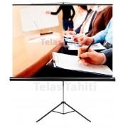 "Tela de Projeção Tripé Standard Tahiti 4:3 Vídeo 74"" 1,50 m x 1,13 m TTRT-004"