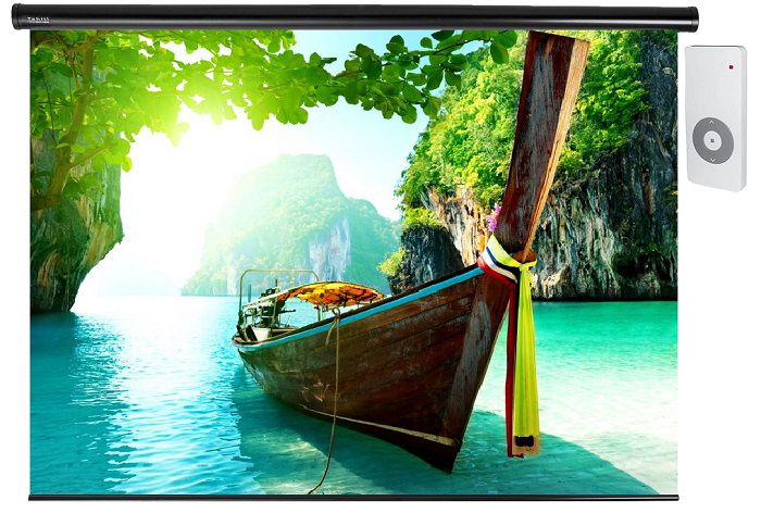 Tela de Projeção Elétrica Standard Tahiti 16:9 WScreen 180 Polegadas 3,98 m x 2,25 m TTES-009