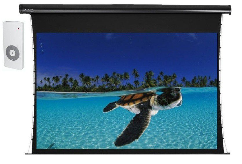 Tela de Projeção Elétrica Tensionada Tahiti 16:9 WScreen 84 Polegadas 1,86 m x 1,05 m TTTE-007