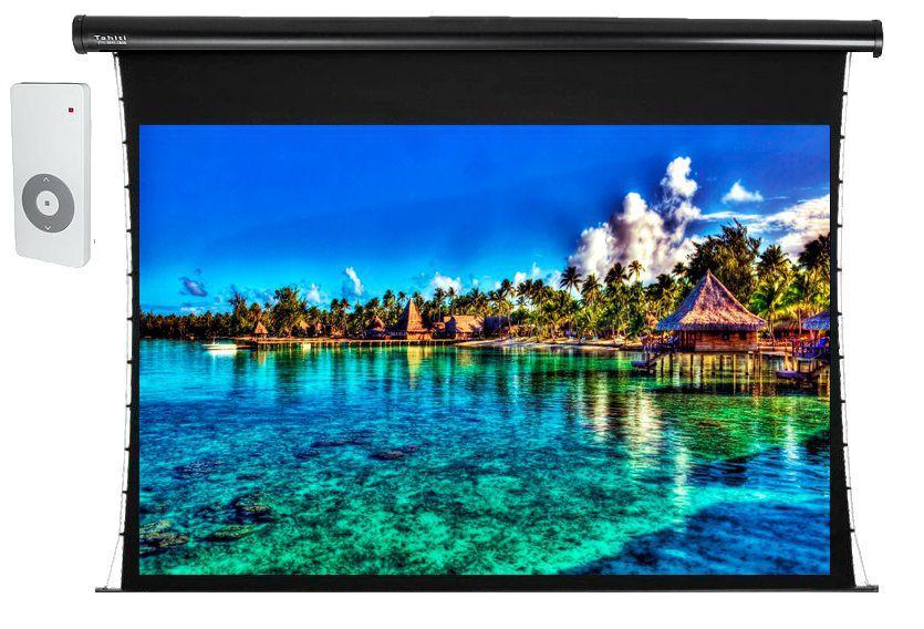 Tela de Projeção Elétrica Tensionada Tahiti 4:3 Vídeo 150 Polegadas 3,05 m x 2,29 m TTTEP-005