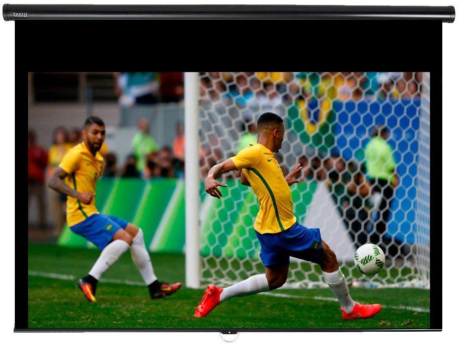 Tela de Projeção Retrátil Prime Tahiti 16:10 WScreen 123 Polegadas 2,65 m x 1,66 m TTRP-015