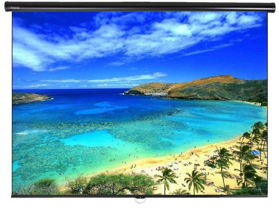 Tela de Projeção Retrátil Standard Tahiti 1:1 QD 78 Polegadas 1,40 m x 1,40 m TTRS-011