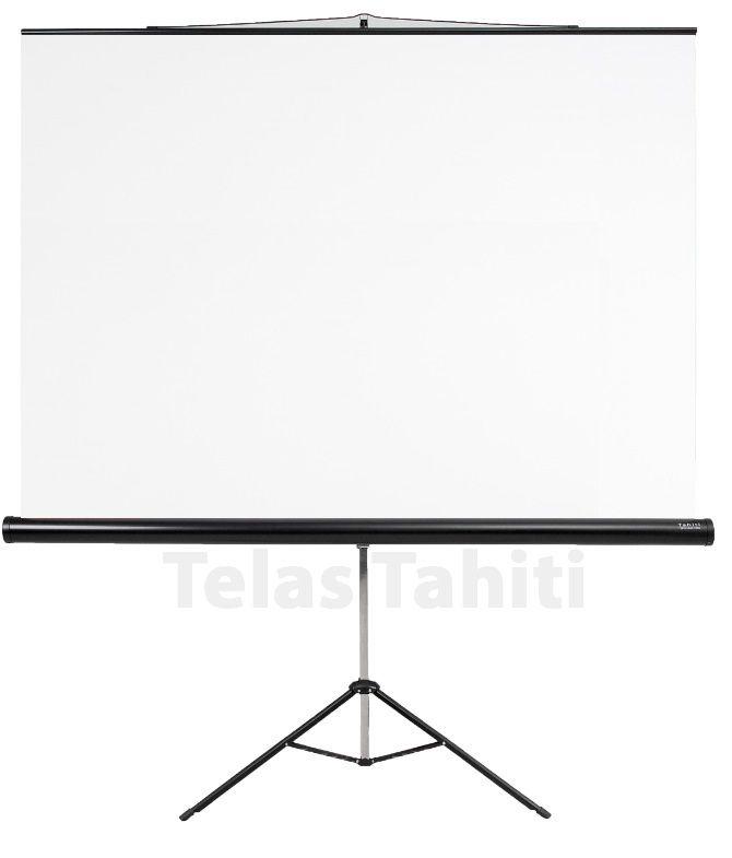 """Tela de Projeção Tripé Standard Tahiti 1:1 QD 83"""" 1,50 m x 1,50 m TTRT-001"""