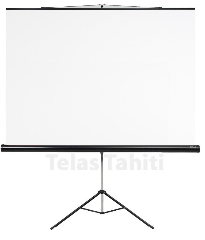"Tela de Projeção Tripé Standard Tahiti 4:3 Vídeo 100"" 2,03 m x 1,52 m TTRT-006"