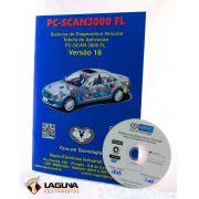 Atualização 18 scanner automotivo PC-SCAN3000 USB versão 15 e 16 NAPRO