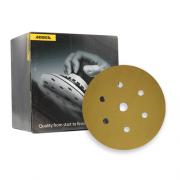 Caixa com 100 Discos Lixa Gold 150mm Grip 7H P150 MIRKA