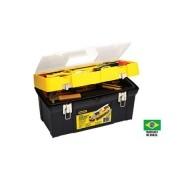 Caixa Plástica De Ferramentas com Bandeja e Fechos Metálicos 19-3/8