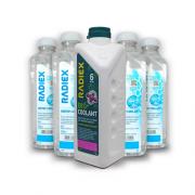 Pack 1 Bio Coolant Rosa Superconcentrado 1L  R1884 + 4 Águas Desmineralizada 1L A902 - RADIEX