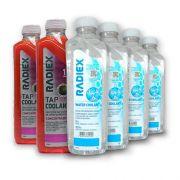 Pack 2 Tap Coolant Rosa Concentrado 1L  R1825 + 4 Águas Desmineralizada 1L A902 - RADIEX