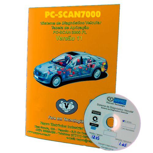 Atualização 11 Scanner Automotivo PC-SCAN7000 versão 1,2,3 e 4  NAPRO