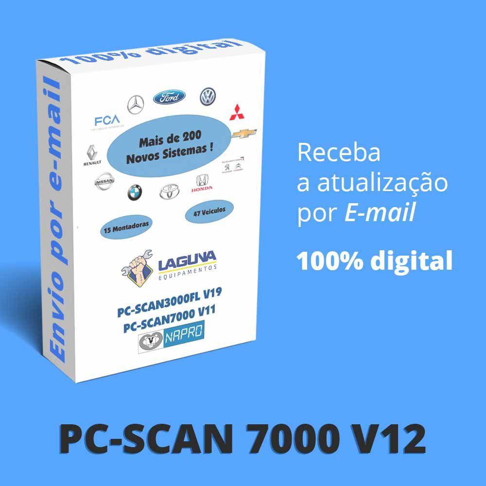 Atualização 12 Scanner Automotivo PC-SCAN7000 versão 8, 9 e 10 NAPRO