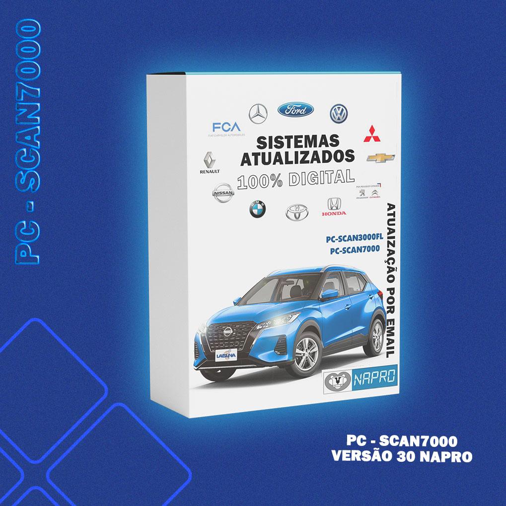 Atualização 30 - Scanner Automotivo PC-SCAN7000 versão 1, 2, 3, 4, 5 e 6 NAPRO