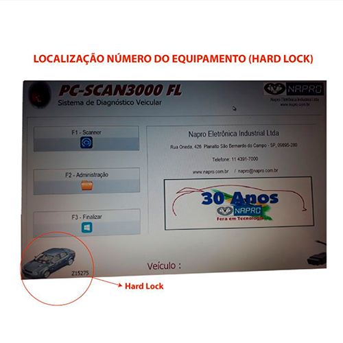 Atualização 19 Scanner Automotivo PC-SCAN3000 USB versão 16 e 17 NAPRO