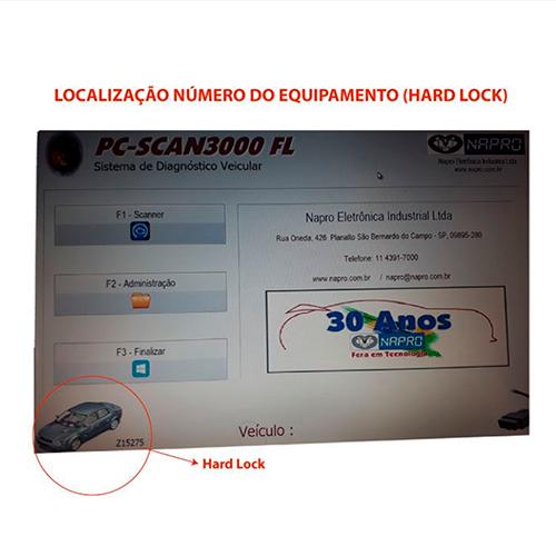 Atualização 18 scanner automotivo PC-SCAN3000 USB versão 17 NAPRO