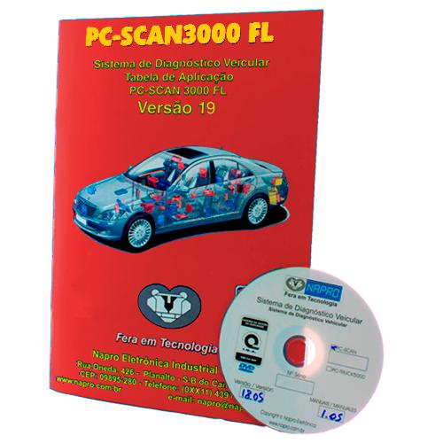 Atualização 19 Scanner Automotivo PC-SCAN3000 USB versão 12, 13,14 e 15 NAPRO