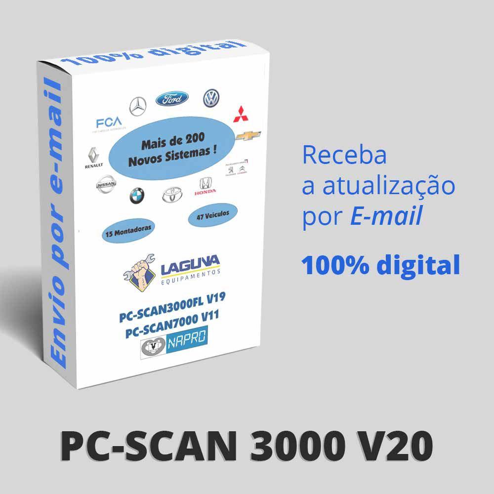 Atualização 20 Scanner Automotivo PC-SCAN3000 USB versão 13, 14,15 e 16 NAPRO