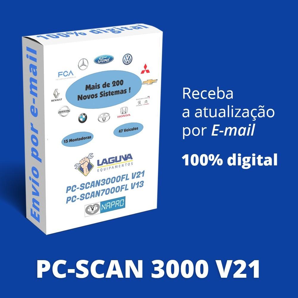 Atualização 21 Scanner Automotivo PC-SCAN3000 USB versão 14 NAPRO