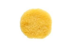 Boina de Lã pura para polimento amarela 80mm com velcro MIRKA