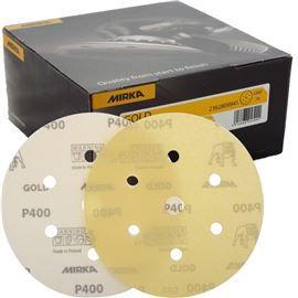 Caixa com 100 Discos Lixa Gold 150mm Grip 7H P80 MIRKA