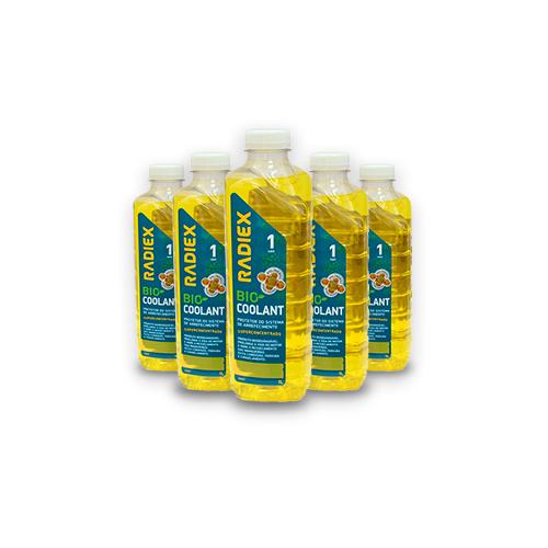 Caixa com 16 Bio Coolant Superconcentrado Amarelo 1L RADIEX