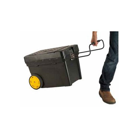 Caixa com rodas tipo baú para ferramentas
