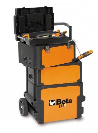 Carro para ferramentas tipo trolley com três módulos BETA